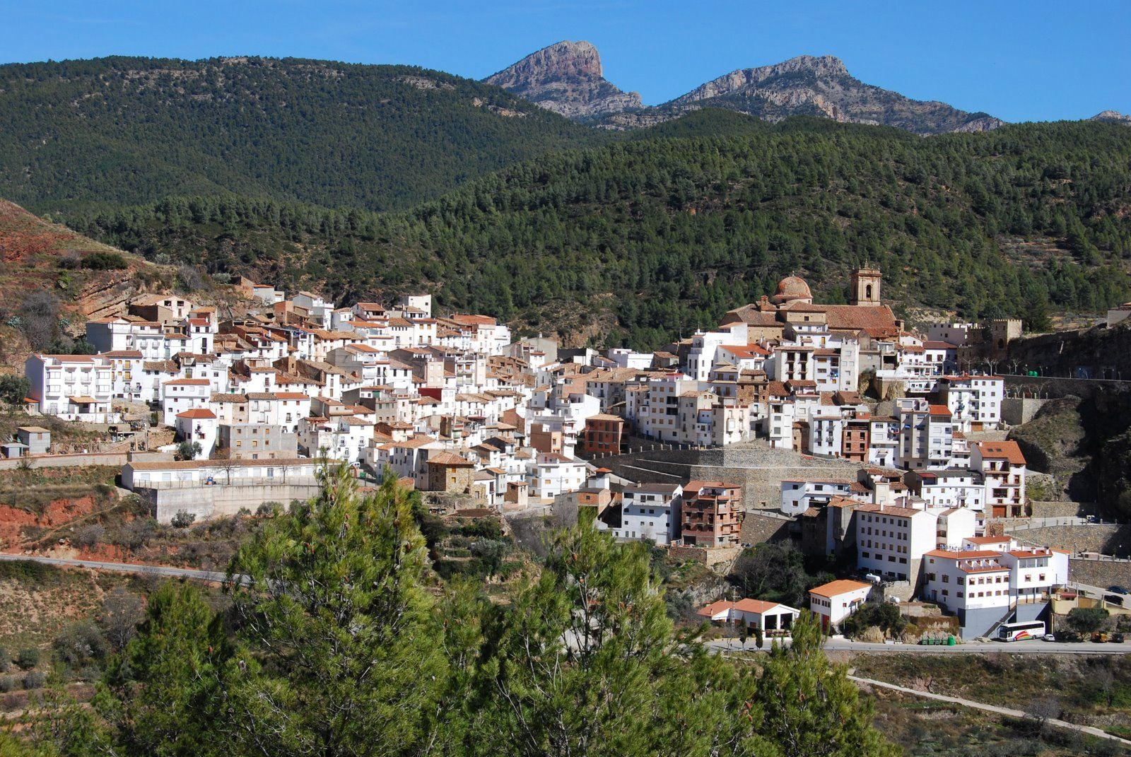 Villahermosa del Río, a beautiful mountain village located in Castellón, Spain.