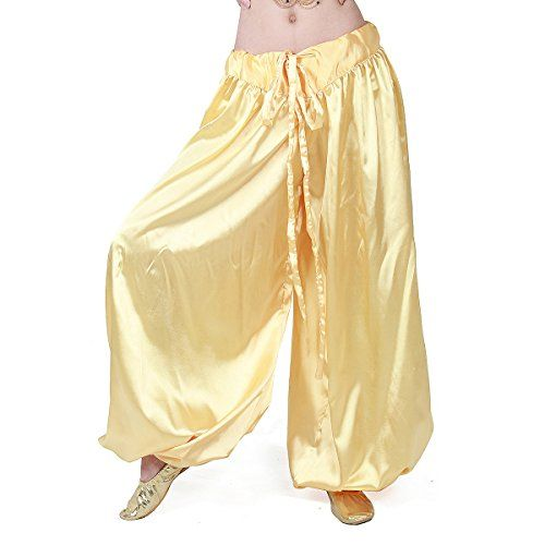 808c8f6d2e5 MISI CHAO Belly Dance Tribal Harem Pants Unisex Satin Pants Loose Solid  Plus Size
