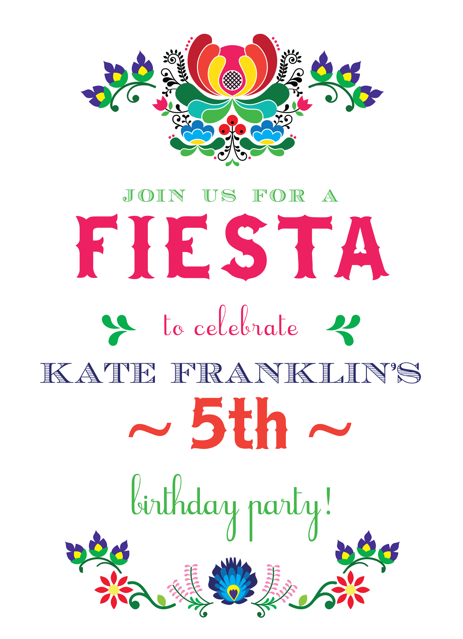 Invite friends and family to your fiesta birthday party invite friends and family to your fiesta birthday party invitation catprint design 505 filmwisefo