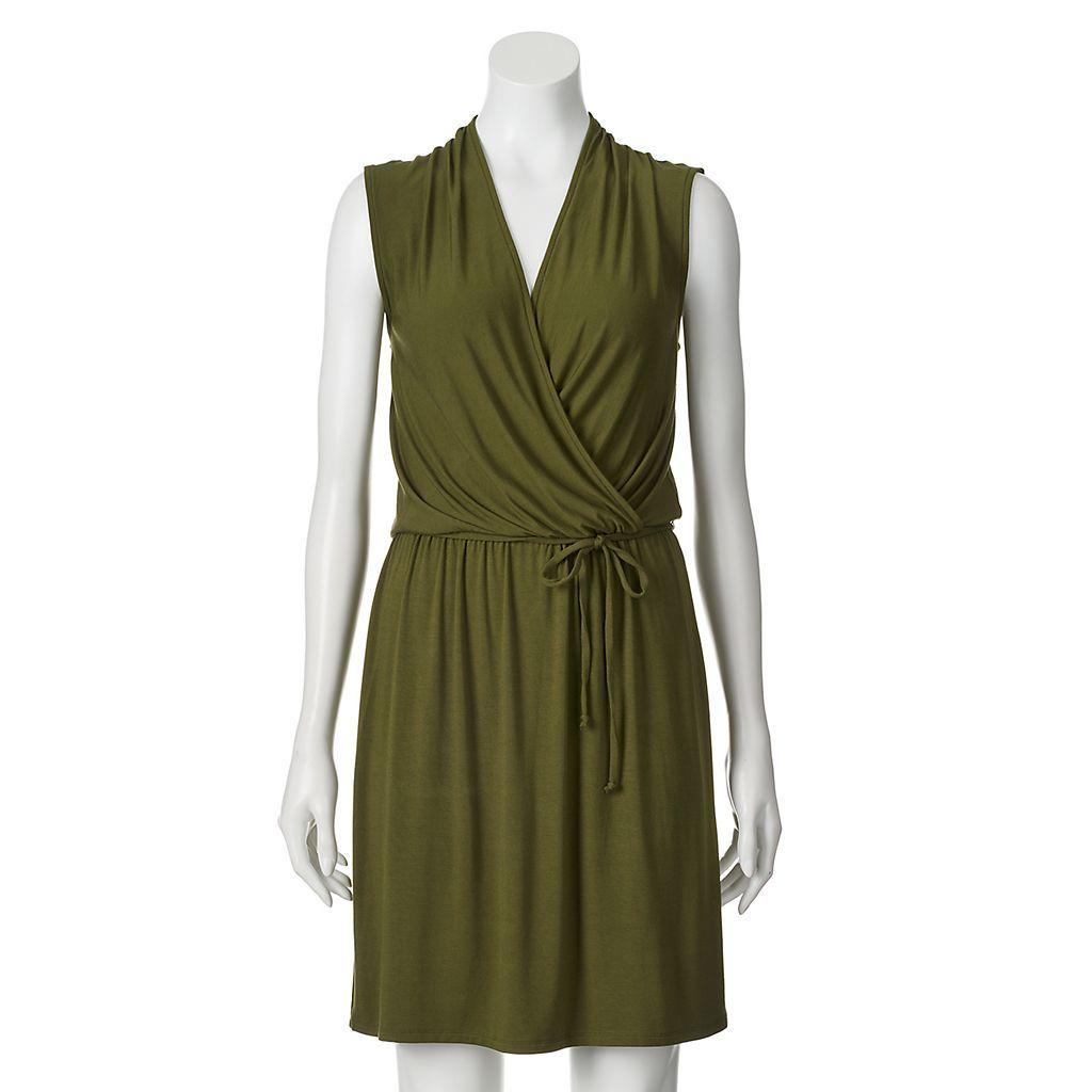 Apt. 9® Faux-Wrap Dress - Women's