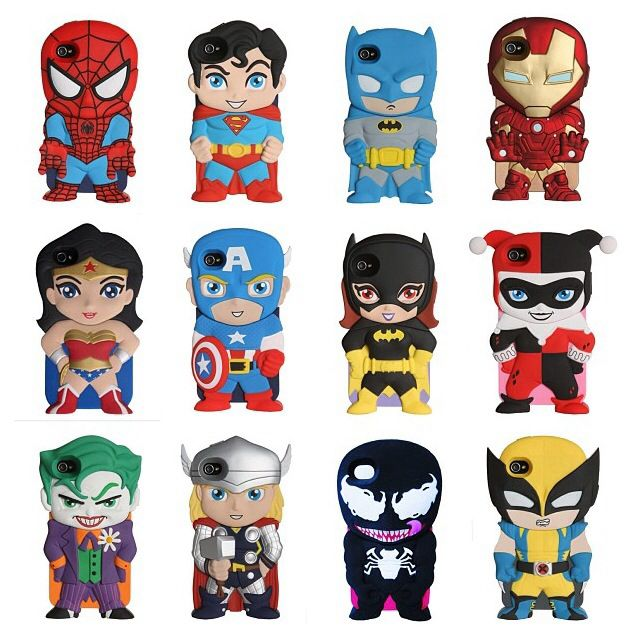 Super Hero phone cases!! I need them all....