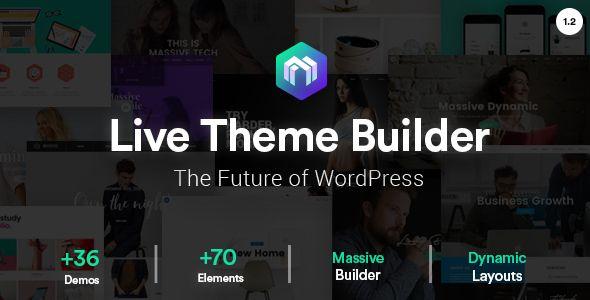 Wordpress theme builder.  Make wordpress theme without any coding skills.  http://themeforest.net/item/massive-dynamic-wordpress-website-builder/13739153?s_rank=2&ref=cliccme