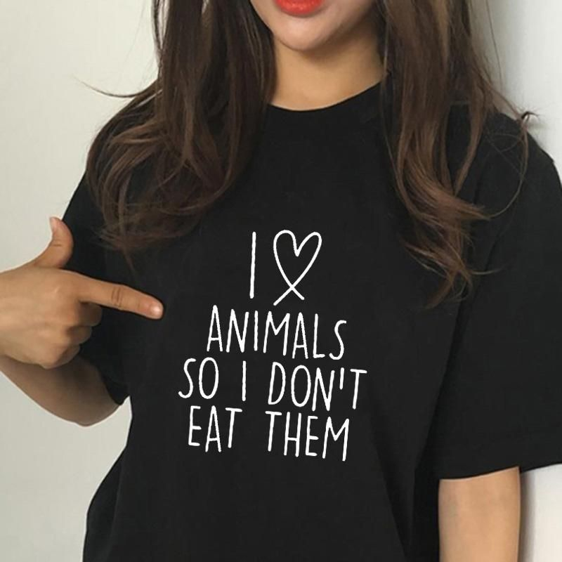 Comical Shirt Ladies Eat Fruit Not Friends Cute Vegan Tee Tri-Blend Tank Top