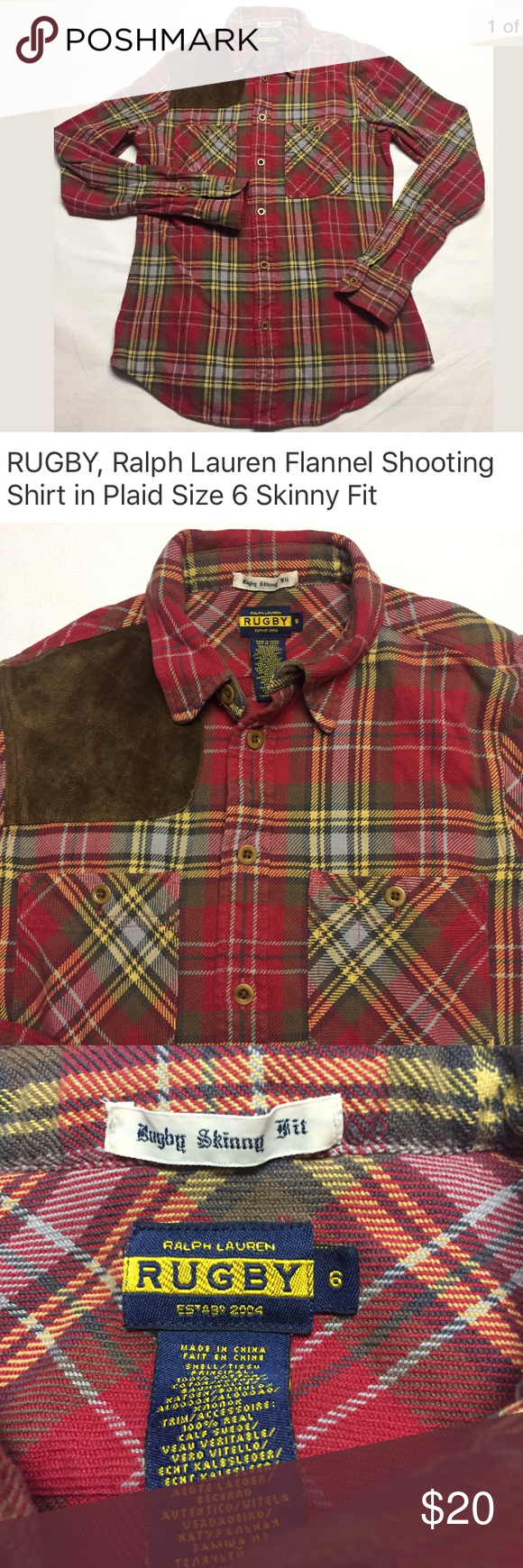 Rugby Ralph Lauren Flannel Shooting Shirt Shooting Shirts Flannel Womens Rugby