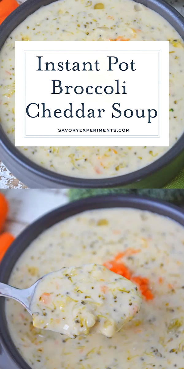 Photo of Instant Pot Broccoli Cheddar Soup