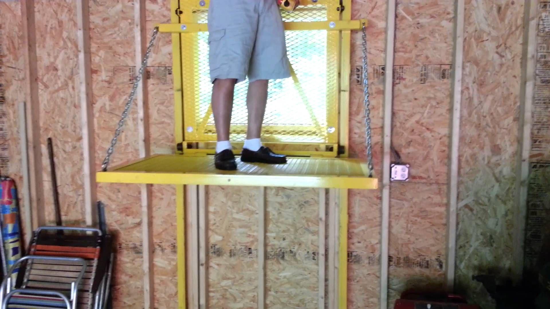 Barn elevatorlift with images attic lift garage