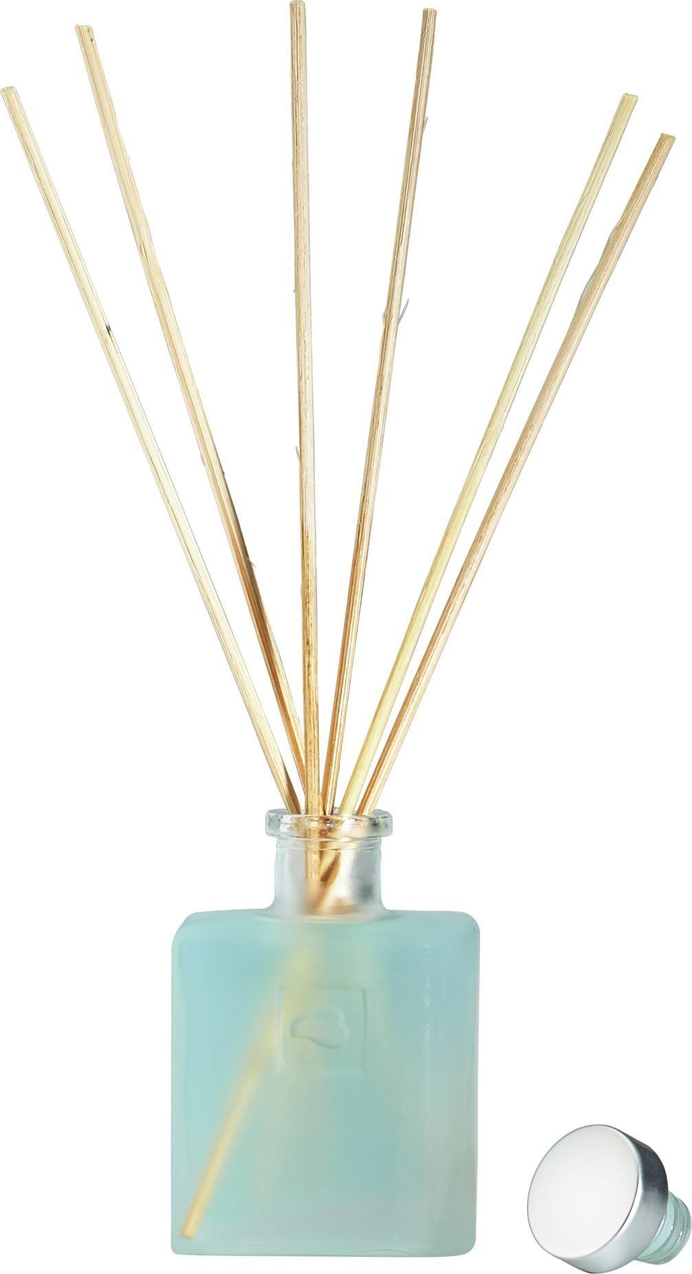 Verleiht eurem Raum einen zarten Hauch von Frische. Dieser Diffuser in Pastellblau sorgt für die richtige Atmosphäre! Durch die Hölzer wird der frische Duft gleichmäßig im Raum verteilt und erhöht so die Lebensqualität. Holt euch diesen erfrischenden Raumduft!