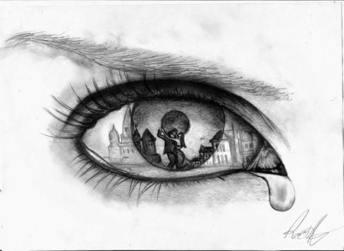 Drawings Of An Eye Crying
