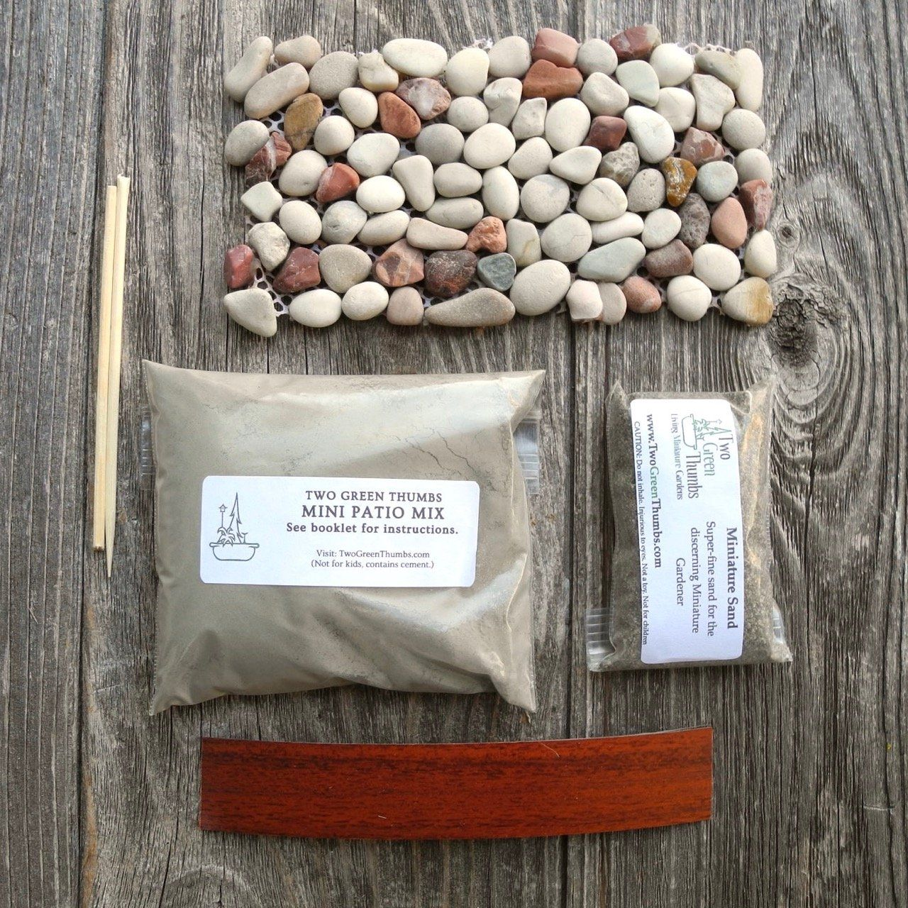 A Sample Mini Patio Mix Kit That Includes Small Stone Sheet So You Can Try It Out Our Original Is Authentic In
