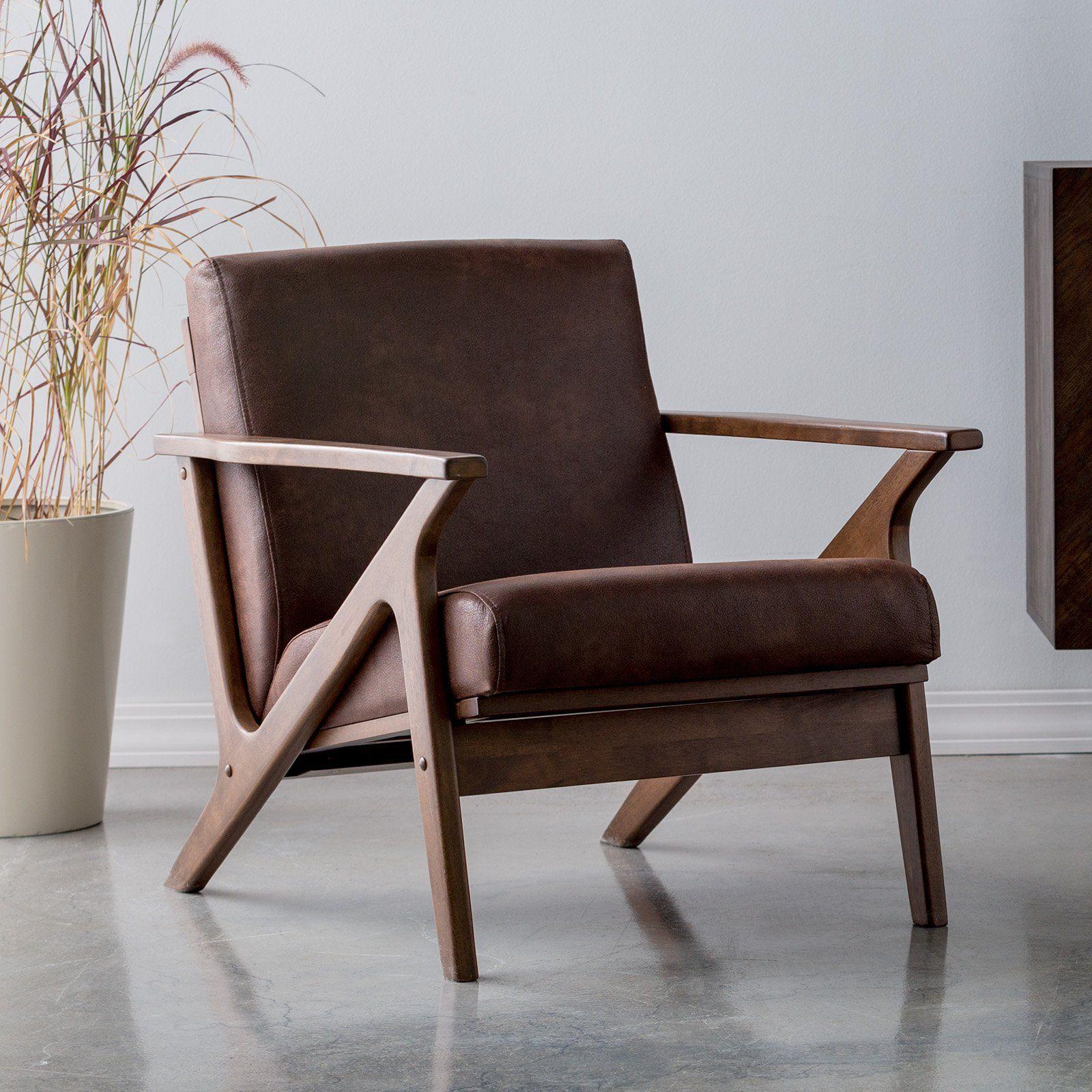 Baxton studio bianca midcentury modern walnut wood dark