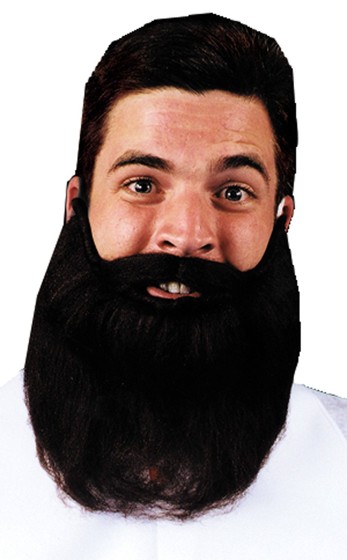 8 Inch Mustache Beard Facial Hair Men's Costume Accessory ...