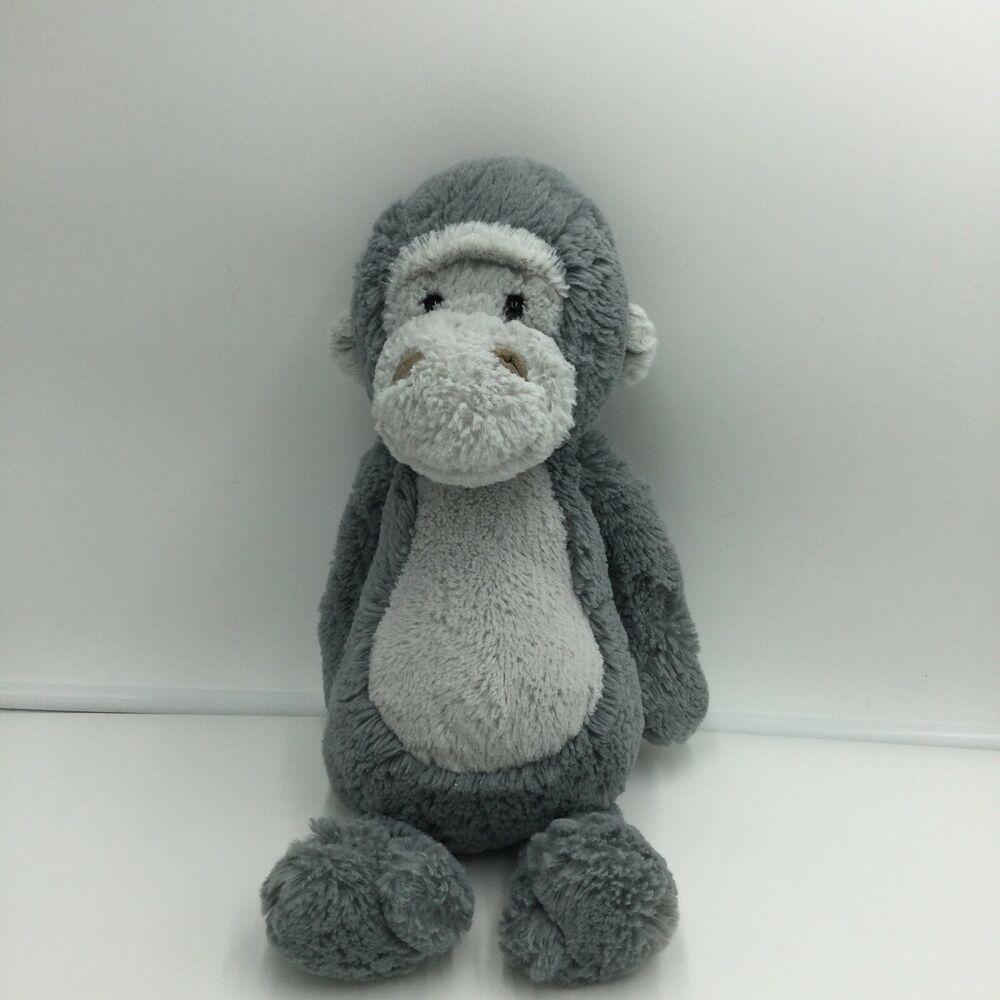 Jellycat Bashful Gorilla Gray Plush Stuffed Animal Soft Toy Monkey Ape 12 Jellycat Soft Toy Animals Animal Plush Toys Pet Toys