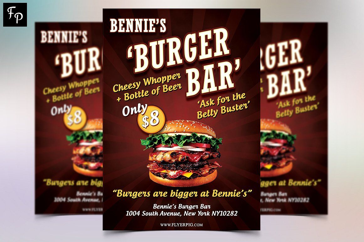 Food Flyer  Burger Bar Psd Templates And Flyer Template