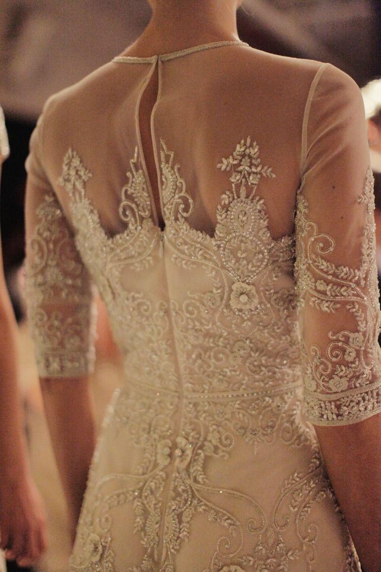 Naeem khan bridal fall via thelane find more women fashion on