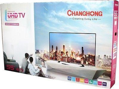 e698b675b cool NEW Changhong 55 Class 4K Ultra HD LED TV - UD55YC5500UA HDTV - For  Sale