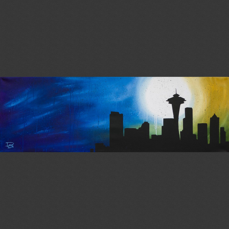 Seattle Raining Skyline - 36\