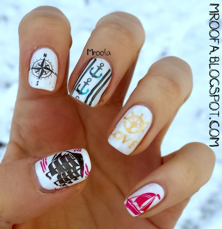 Marine nails my nail art inspiration pinterest marine nails marine nails prinsesfo Gallery
