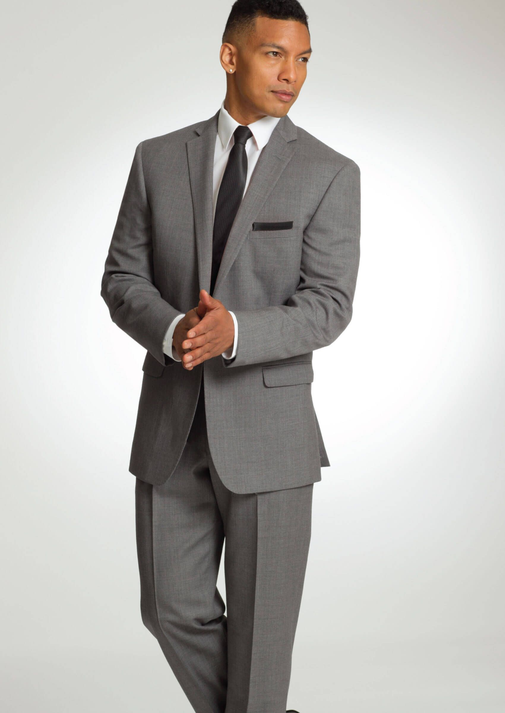 Grey Valencia One Button Notch Dress Suit by Savvi - Tuxedos ...