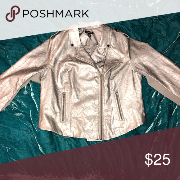 82dfdd5b783f Womens Metallic Moto Jacket 🖤🖤 Womens Metallic Faux-leather moto jacket.  Brand new