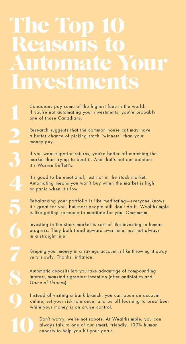 10 Amazing Reasons to Automate Your Investments