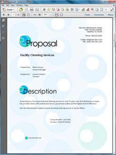 Janitorial Services Sample Proposal  The Janitorial Services