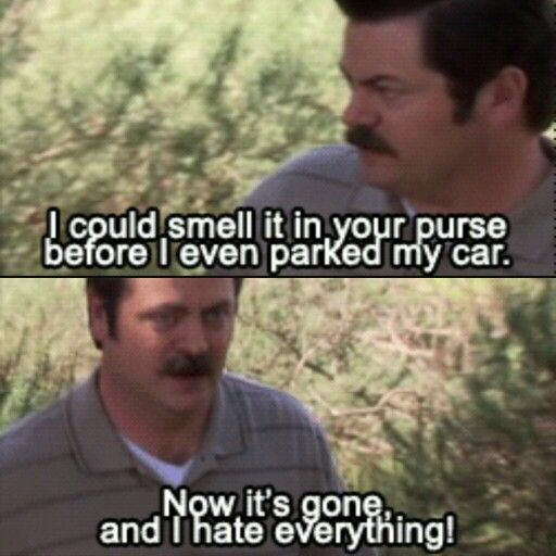 I hate everything Parks & Recreation's Ron Swanson