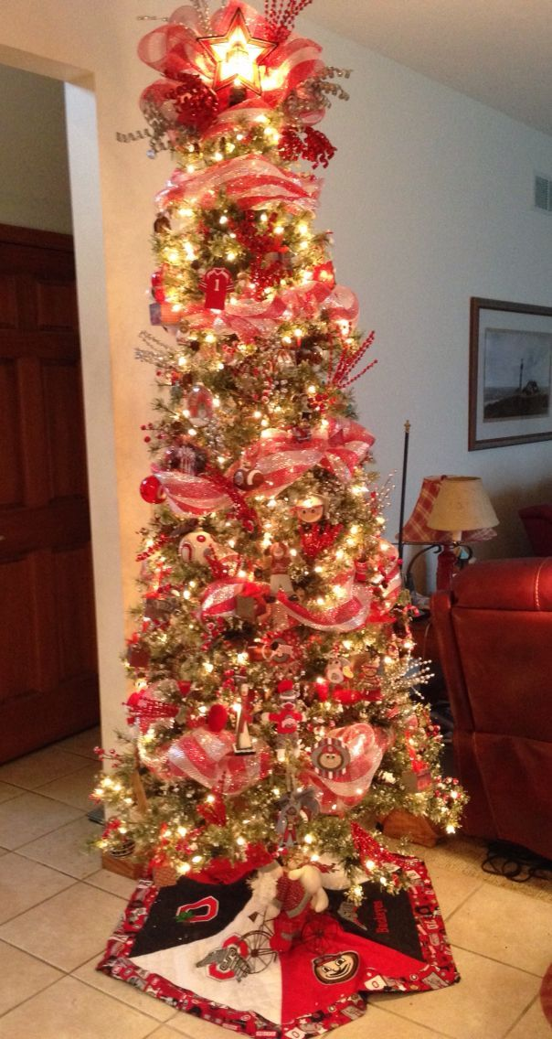 Buckeye garland is a beautiful addition to and Christmas tree. Ohio State  ... - Pin By Dorma Tolson On Christmas Trees Buckeyes, Ohio State