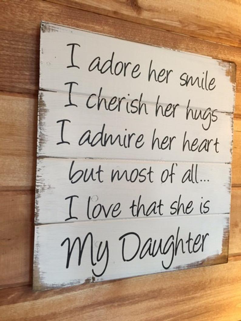My Daughter I adore her smiles I cherish her hugs boys room | Etsy