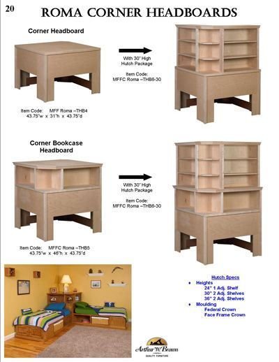 arthur w brown furniture company for the home pinte. Black Bedroom Furniture Sets. Home Design Ideas