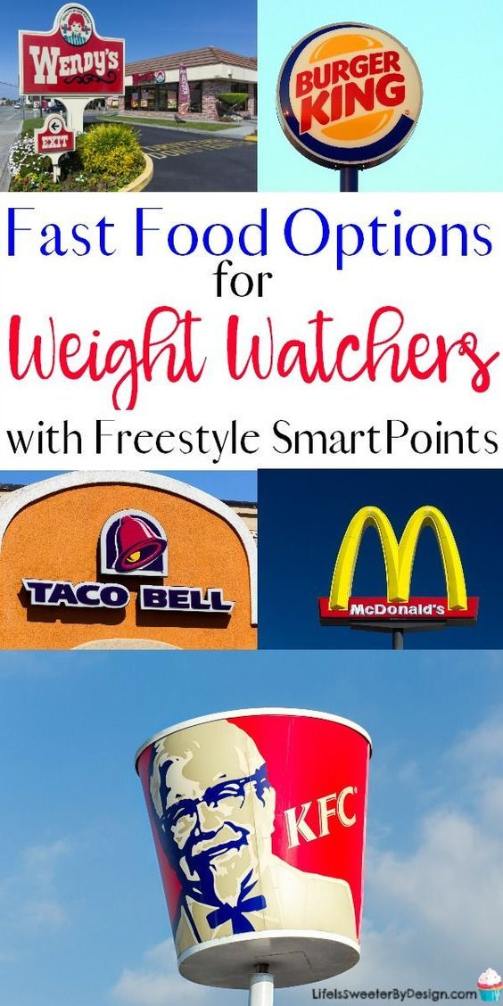 Find Out The Best Fast Food Options For Weight Watchers With