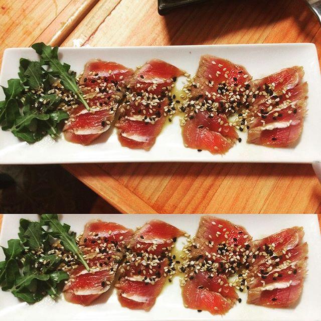 El mejor Tataki de atún rojo #august#novacation#Instafood#tuna#tataki#Malaga2015 by b_gonia