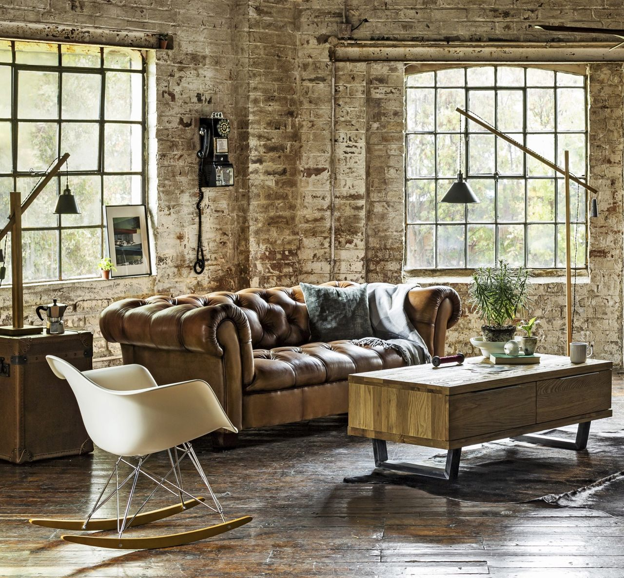 Our Modern Restoration Trend Is Inspired By The Vibrancy And Character Of An East London Warehouse Johnlewishome Loft Living Home Decor Warehouse Living