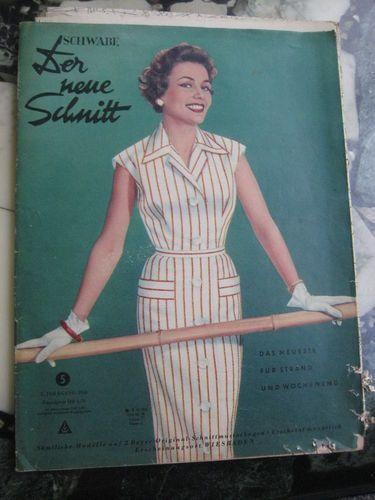 Der Neue Schnitt Heft 5 1956 vintage Schnittmuster Moden Zeitung ...