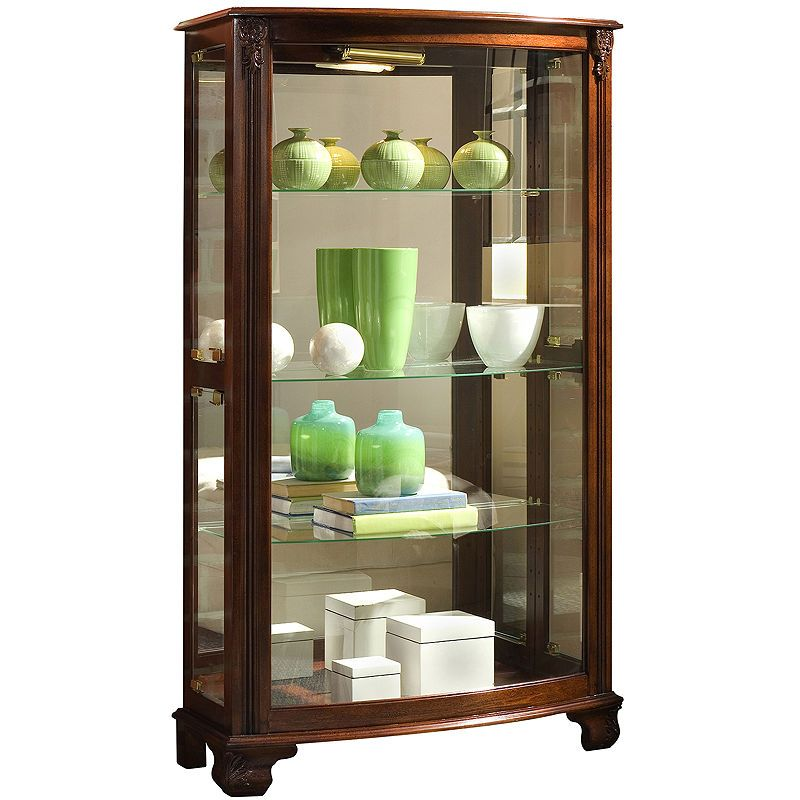 Hopkins Mantle Curio Cabinet | Curio cabinet, Glass side ...