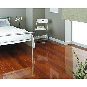Wickes High Gloss Plateau Merbau Laminate Flooring
