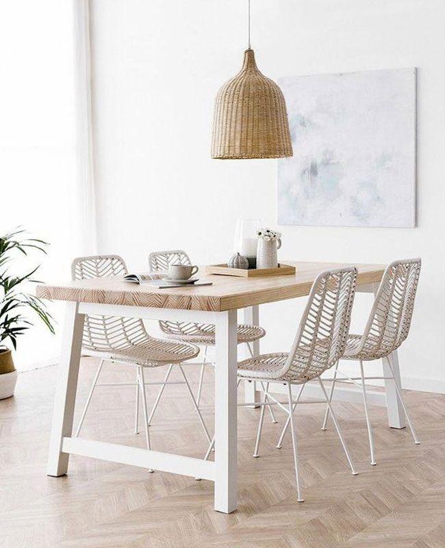 Une déco en blanc et bois dans la salle à manger | Shake My Blog