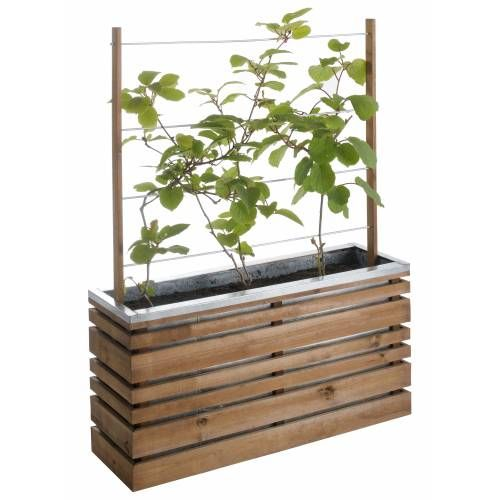 jardinire bois et mtal avec treillis lign z 100 - Jardiniere Treillis Leroy Merlin