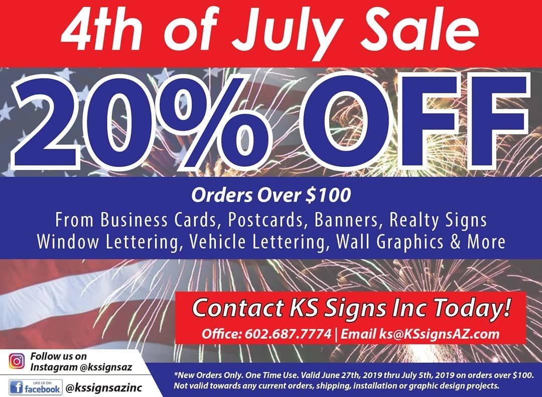 Check out our private Real Estate Mastermind for top realtors. Join 19,000+ of your RE friends. PS its free :)  Time to save some $$ #signs #printing #kssignsaz #4thofjuly #fourthofjuly #holiday #holidayspecial #discount #phoenix #arizona #peoria #peoriaaz #banners #realestateagent #exprealty #kellerwilliams