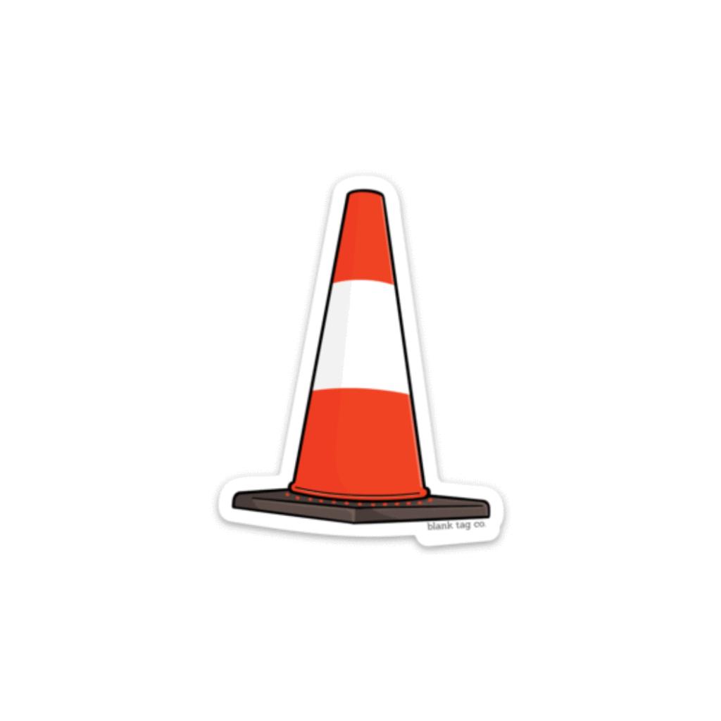 The Traffic Cone Sticker Blank Tag Co Computers Desain Stiker Desain Logo Otomotif Stiker