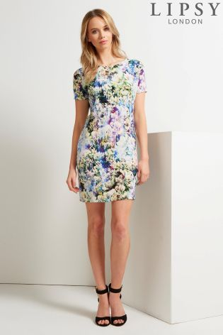 Buy Lipsy Blurred Floral Shift from the Next UK online shop | Pretty ...