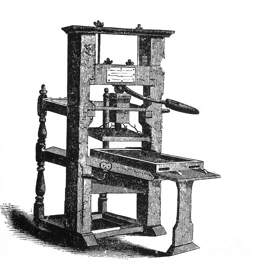 how to use a printing press