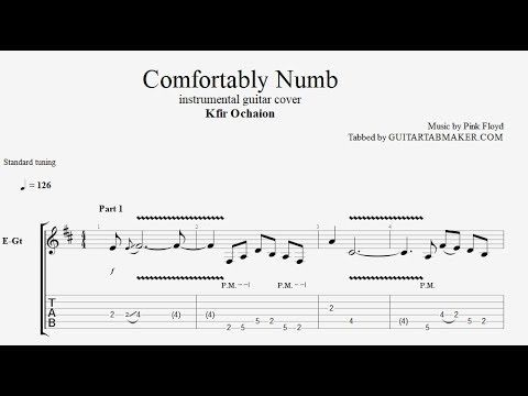 Kfir Ochaion Comfortably Numb Tab Electric Guitar Tab Pdf Guitar Pro Youtube Electric Guitar Tabs Guitar Tabs Comfortably Numb