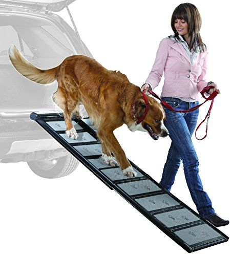 Lightweight Walk Up With Collapsible Aluminum Dog Ramp 6 Feet