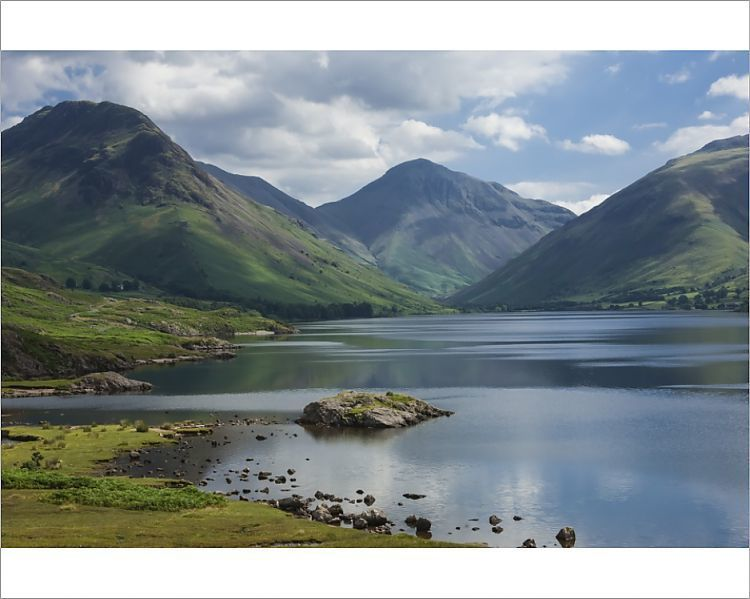 Print Of Great Gable And Yewbarrow Lake Wastwater Wasdale Lake District National Park In 2020 Lake District National Parks Park