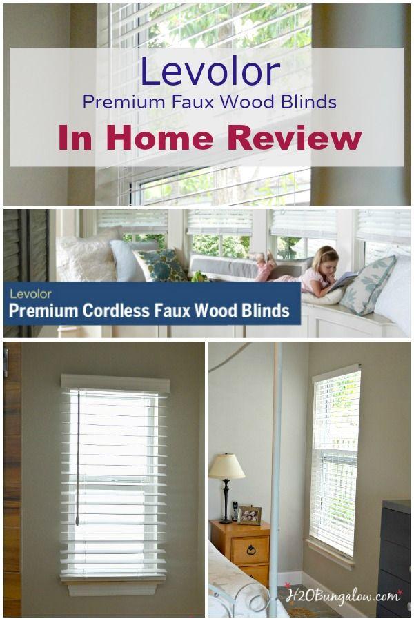Levolor Cordless Faux Wood Blind Review Faux Wood Blinds Faux Wood Wood Blinds