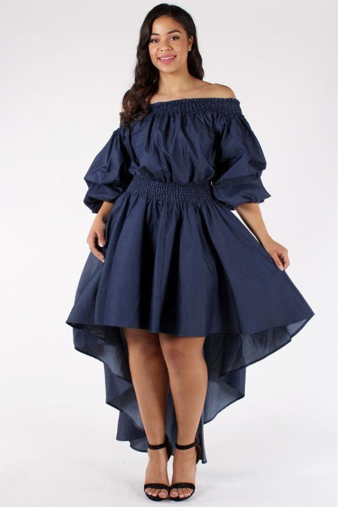 Angelic Ruffle Plus Size Denim Dress   Is that mine or yours ...