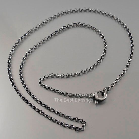Oxidized sterling silver chain / subtle jewelry / minimalist necklace / simple jewellery / chain for pendant - - choose your perfect length by TheBestEarrings on Etsy https://www.etsy.com/listing/183395923/oxidized-sterling-silver-chain-subtle