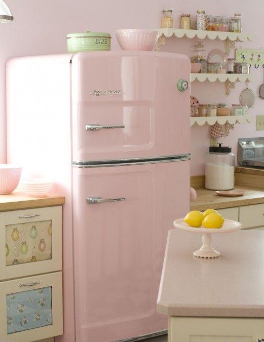 Shabby Pink Kitchen Cuisine Pastel Maison Retro Cuisines Retro