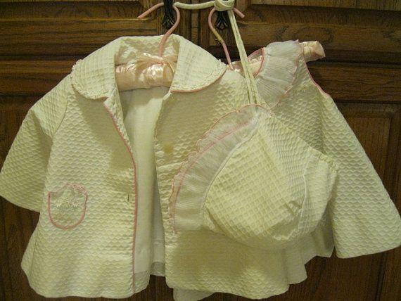 0ed57e2206f 1950s Vintage baby girls coat