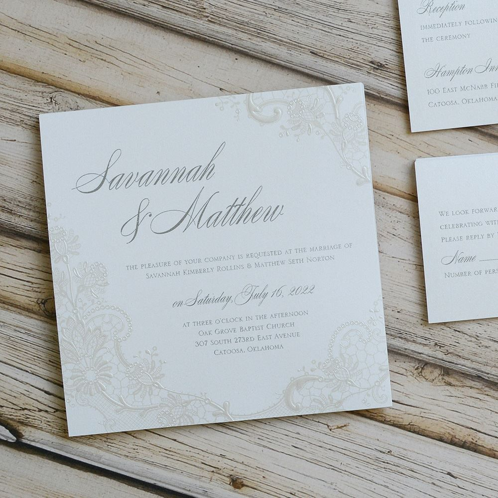 Exquisite Invitation Rustic Glam Wedding